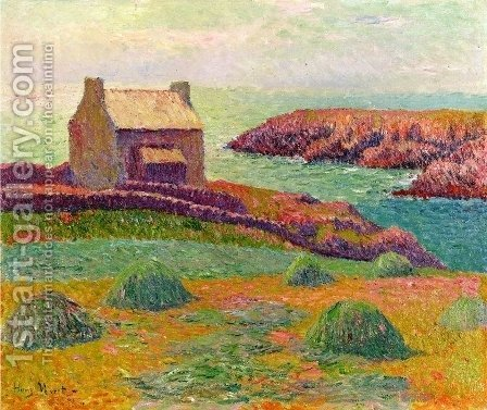 House on a Hill by Henri Moret - Reproduction Oil Painting