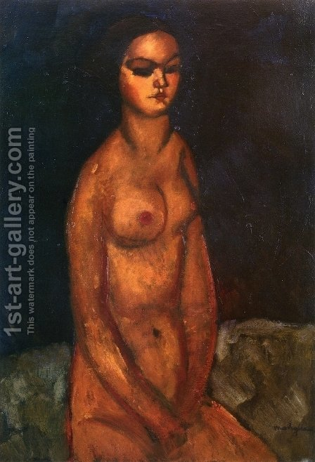 Seated Nude III by Amedeo Modigliani - Reproduction Oil Painting