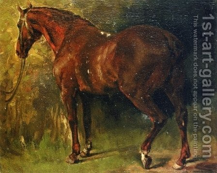 The English Horse of M. Duval by Gustave Courbet - Reproduction Oil Painting
