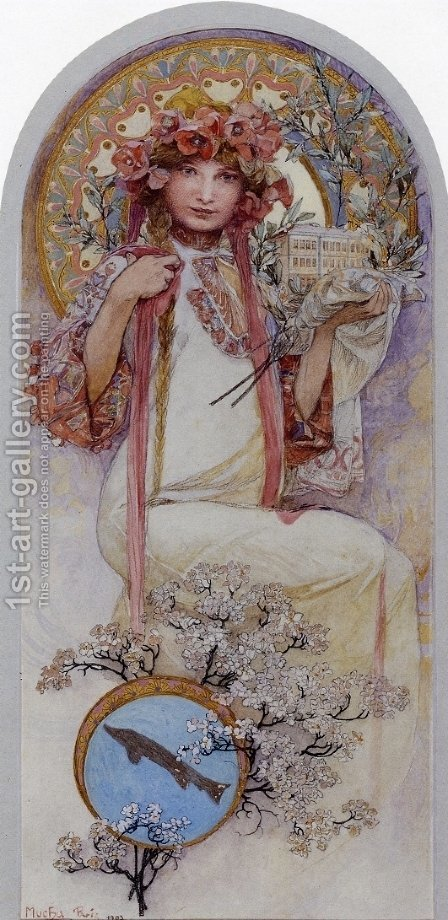 The Girl of Ivancice by Alphonse Maria Mucha - Reproduction Oil Painting