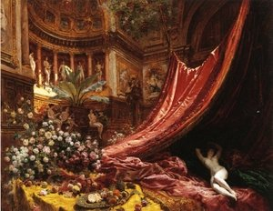 Famous paintings of Paintings of paintings: Symphony in Red and Gold