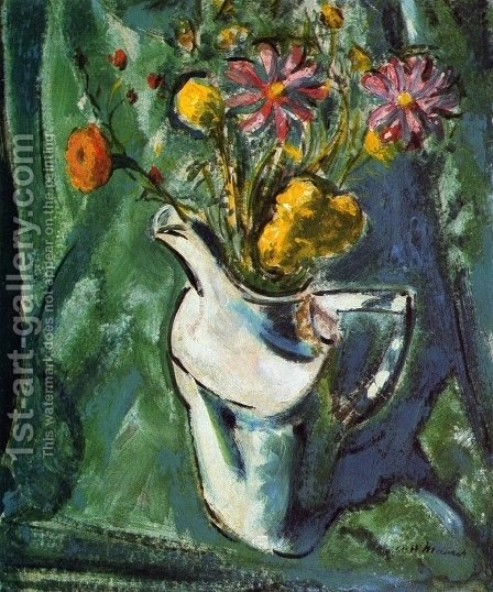 Floral Still Life by Alfred Henry Maurer - Reproduction Oil Painting