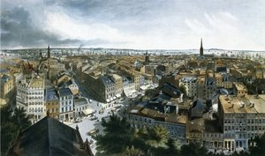 Famous paintings of Cars: New York from the Steeple of St. Paul's Church, Looking East, South and West