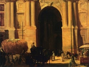 Reproduction oil paintings - John Sloan - East Entrance, City Hall, Philadelphia