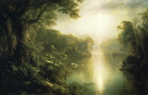 Famous paintings of Trees: El Rio de Luz