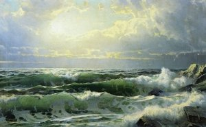Reproduction oil paintings - William Trost Richards - Breaking Waves II