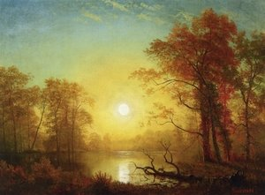 Reproduction oil paintings - Albert Bierstadt - Sunrise