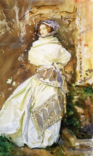 Reproduction oil paintings - Sargent - The Cashmere Shawl