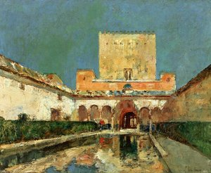 Famous paintings of Pools: The Alhambra