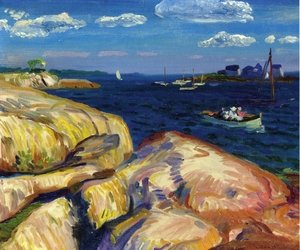 Reproduction oil paintings - John Sloan - A Gloucester Day