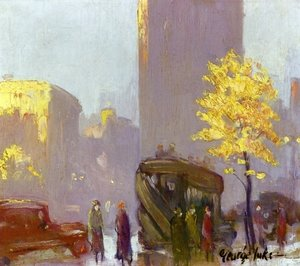Famous paintings of Cars: Fifth Avenue, New York