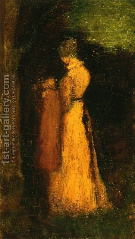Mother and Child by Albert Pinkham Ryder - Reproduction Oil Painting