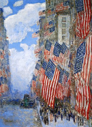 Famous paintings of Clouds & Skyscapes: The Fourth of July, 1916