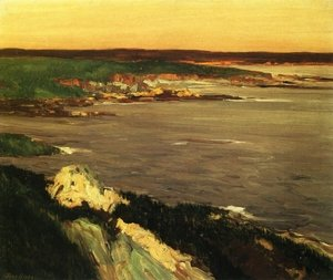 Reproduction oil paintings - John Sloan - The Lookout - Green and Orange Cliffs, Gloucester