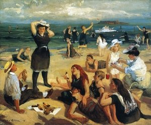 Reproduction oil paintings - John Sloan - South Beach Bathers