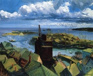 Reproduction oil paintings - John Sloan - Gloucester Harbor
