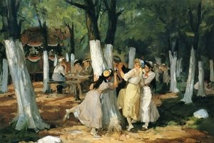Reproduction oil paintings - John Sloan - The Picnic Grounds