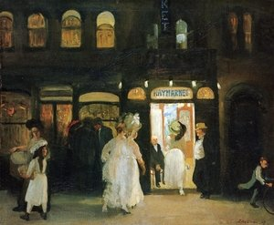 Reproduction oil paintings - John Sloan - The Haymarket