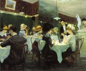 Reproduction oil paintings - John Sloan - Renganeschi's Saturday Night