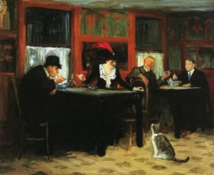 Reproduction oil paintings - John Sloan - Chinese Restaurant