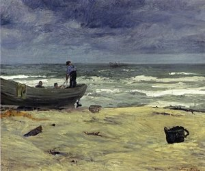 Reproduction oil paintings - John Sloan - Gray Day, Jersey Coast