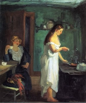 Reproduction oil paintings - John Sloan - Three A.M.