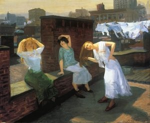 John Sloan reproductions - Sunday, Women Drying Their Hair