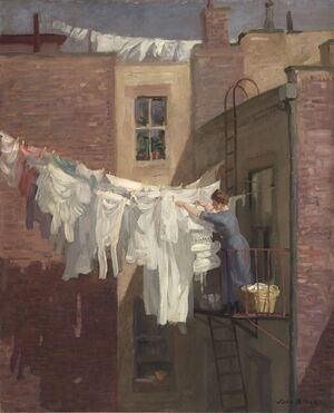 Reproduction oil paintings - John Sloan - A Woman's Work