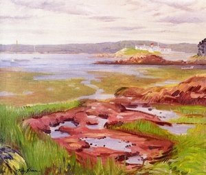 Reproduction oil paintings - John Sloan - Gloucester Inlet