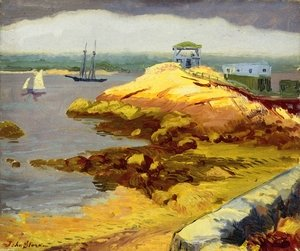 Reproduction oil paintings - John Sloan - Foggy Bank, Rocky Neck