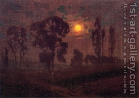 Moonlight Scene by Alexander Mueller - Reproduction Oil Painting