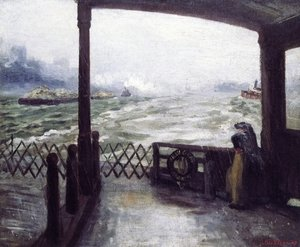 Reproduction oil paintings - John Sloan - Wake of the Ferry
