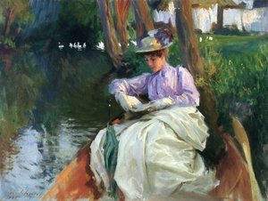 Reproduction oil paintings - Sargent - By the River I