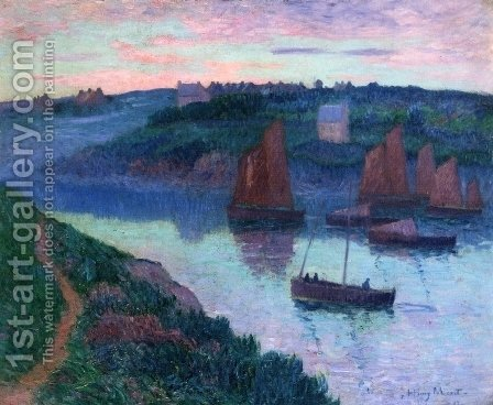 Fishing Boats in Brittany by Henri Moret - Reproduction Oil Painting