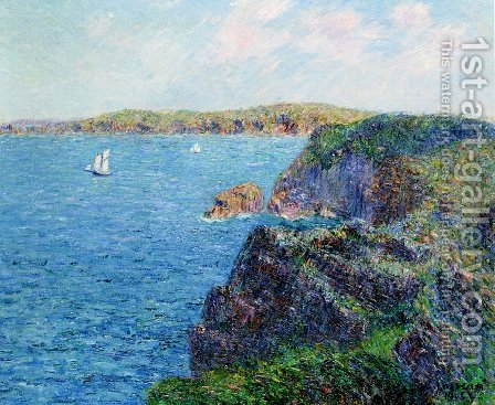 A Cove at Sevignies, Cap Frehel by Gustave Loiseau - Reproduction Oil Painting