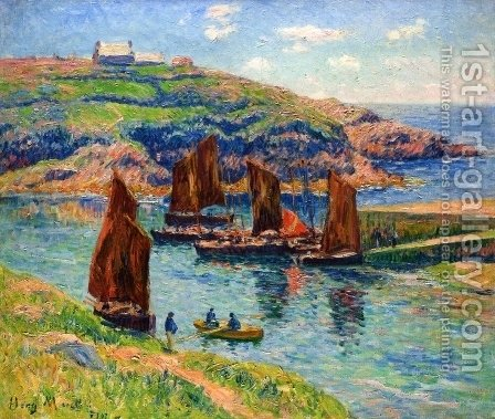 Low Tide by Henri Moret - Reproduction Oil Painting