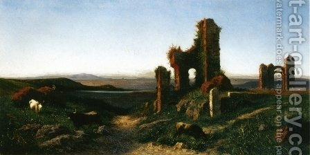 Roman Ruin by Achille Vertunni - Reproduction Oil Painting