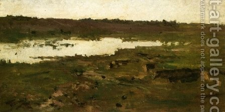 Pond by Achille (Formis) Befani - Reproduction Oil Painting