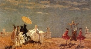 Famous paintings of Parasols and Umbrellas: Lucciolina