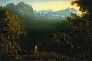 Reproduction oil paintings - John Martin - Edwin and Angelina