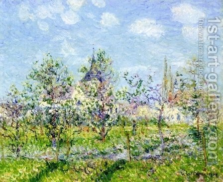 Flowering Orchard, Spring by Gustave Loiseau - Reproduction Oil Painting