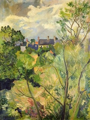 Reproduction oil paintings - Suzanne Valadon - View from My Window in Genets (Brittany)