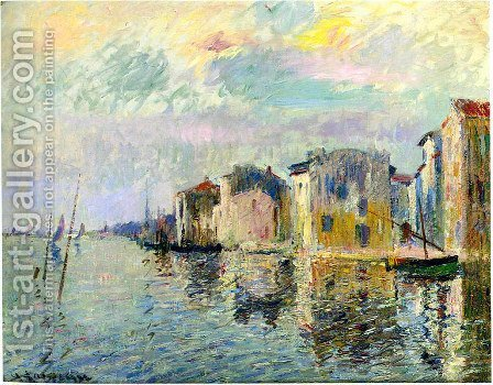 Les Martigues I by Gustave Loiseau - Reproduction Oil Painting