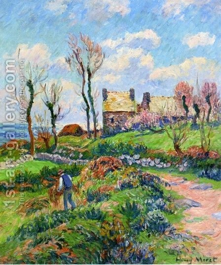 Near Audierne by Henri Moret - Reproduction Oil Painting