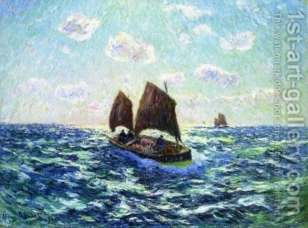 Fishing Boat in Brittany by Henri Moret - Reproduction Oil Painting