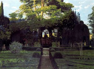 Reproduction oil paintings - Santiago Rusinol i Prats - Jardin