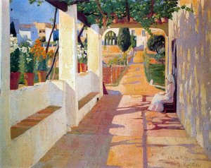 Reproduction oil paintings - Santiago Rusinol i Prats - Jardin II