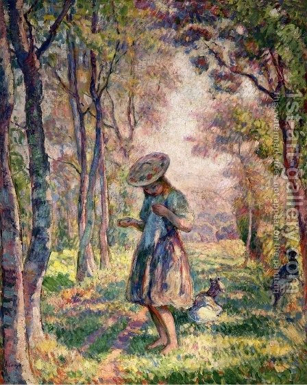 The Forest at Pierrefonds by Henri Lebasque - Reproduction Oil Painting