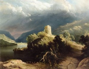 Reproduction oil paintings - John Martin - View of Dolbadern Castle, North Wales