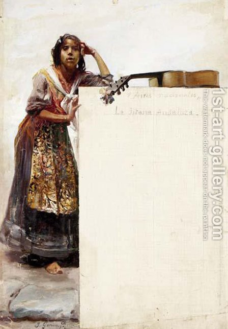 Jose Garcia y Ramos: Gitana - reproduction oil painting